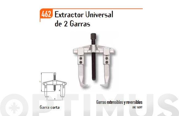 Extractor universal 2 garras cortas 80mm-160mm