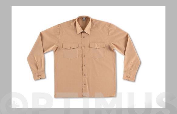 Camisa tergal 110 gr manga larga t 47/48 beige