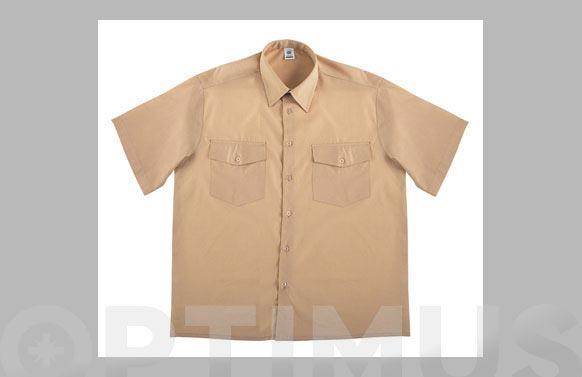 Camisa tergal 110 gr manga corta t 47/48 beige