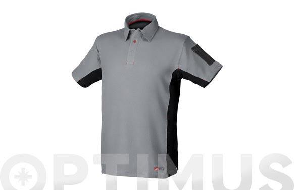 Polo stretch gris t. xxl