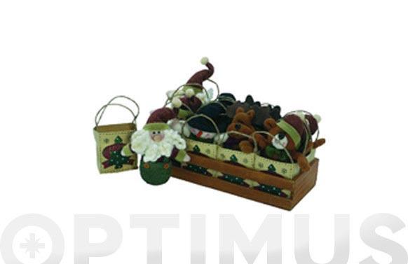 Muñeco navidad en bolsa 12,5cm 12 muñecos