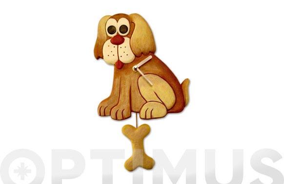 Reloj cocina resina con pendulo perro