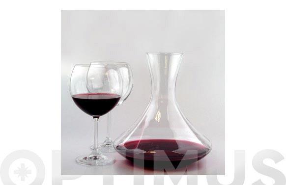 Decantador + 6 copas burgundy