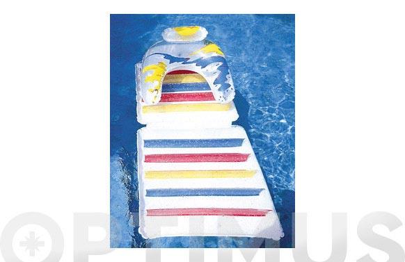 Butaca hinchable piscina decorada