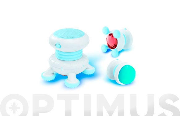 Masajeador estimulador con calor y frio blanco y azul