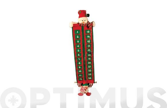 Calendario adviento 2 muñecos nieve 105 cm