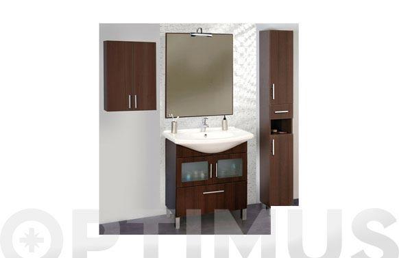 Armario baño colgar sena wengue marrón 54 x 76 x 24 cm
