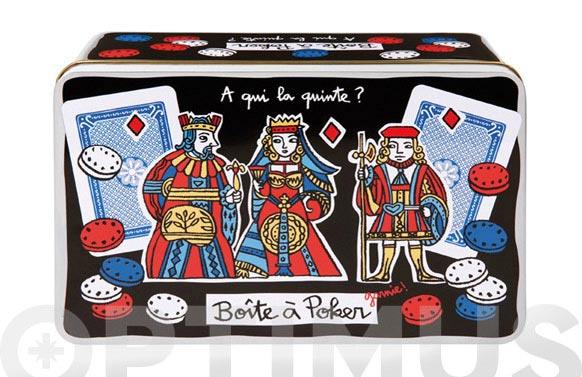 Caja metal poker - incluye juegos