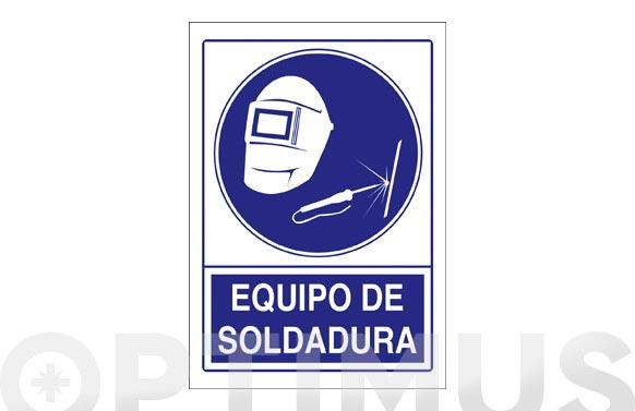 Señal obligacion castellano 297x210 mm equipo de soldadura
