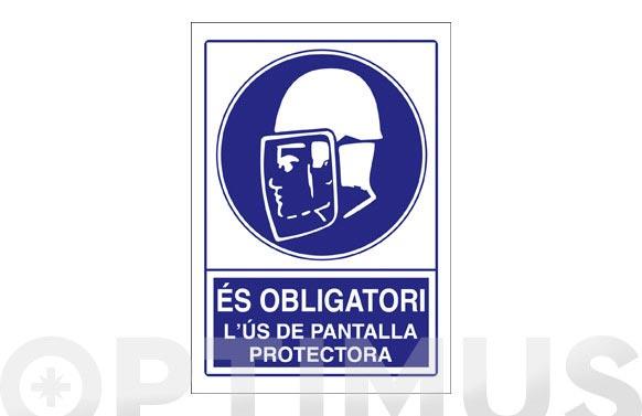 Señal obligacion catalan 297x210 mm obligatori pantalla protectora