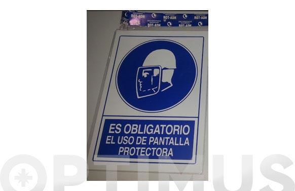 Señal obligacion castellano 297x210 mm pantalla protectora