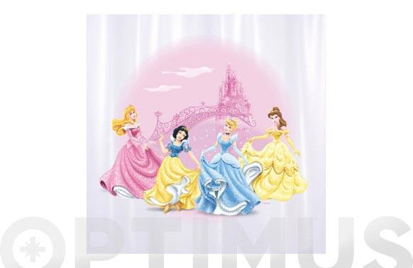 Cortina baño pvc princesas 180 x 180 cm