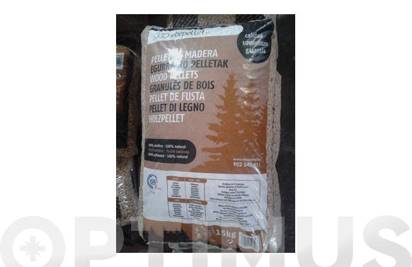 Pellet de madera din plus saco 15 kg