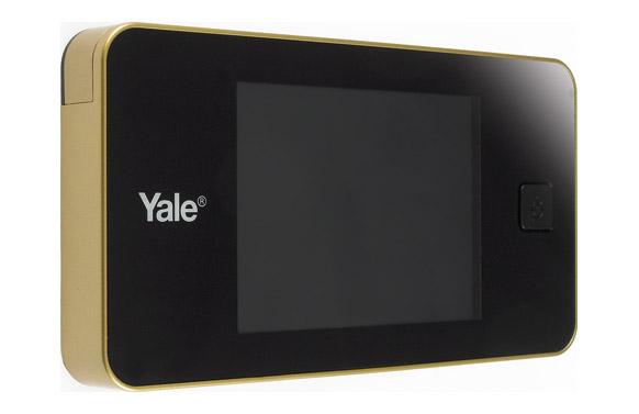 Mirilla digital electronica dorada