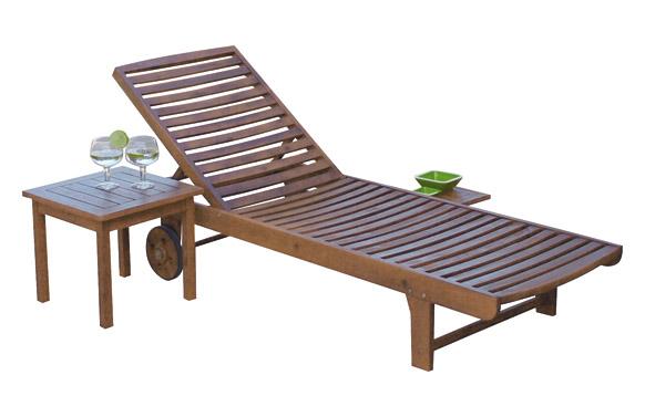 Mesa auxiliar baja acacia fsc 45 x 45 cm