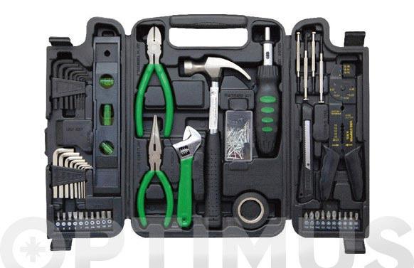 Maleta con herramientas brico 129 piezas