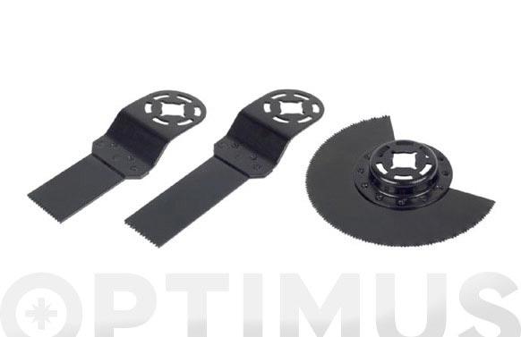 Cuchilla multiherramienta (juego 3 piezas) madera-metal