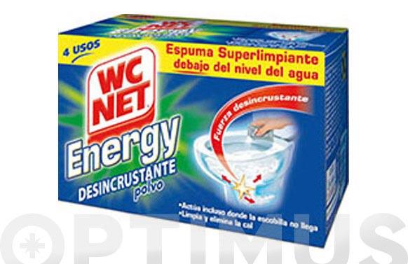Desincrustante polvo energy 4 x 60 gr