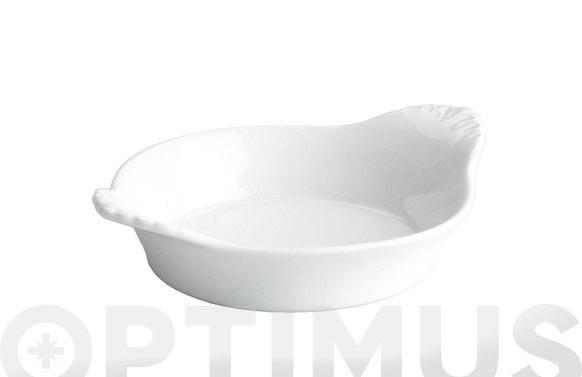 Plato huevos porcelana 22x17