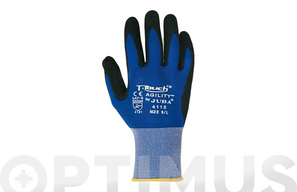 Guante nitrilo/pu t-touch agility t 9