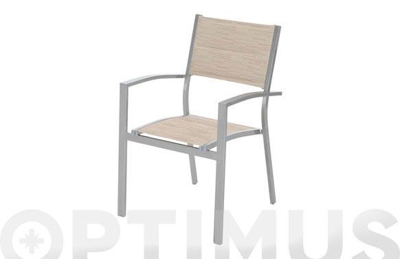 Sillon aluminio/textilene beige mistral