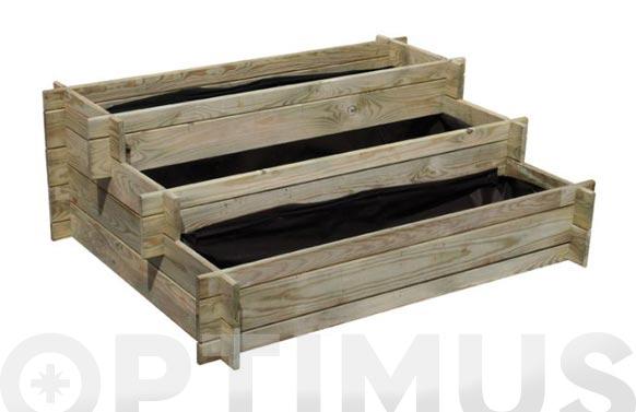 Huerto urbano madera escalera nikole 113 x 88 x h 40 cm