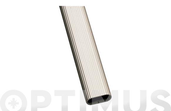 Tubo armario ovalado aluminio modelo 1 30x15x1,4mm x 2m plata