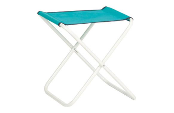 Taburete playa acero lacado fibreline azul