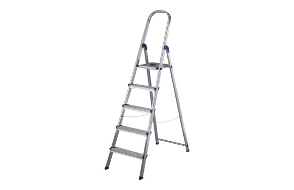 Escalera aluminio peldaño ancho 5 peld plus