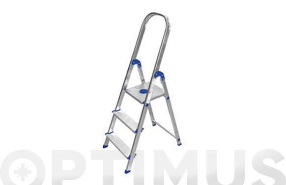 Escalera aluminio peldaño ancho 7 peld plus