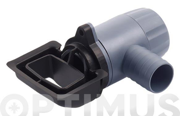 Filtro rapido para bajante rectangular de 60 x 80 mm