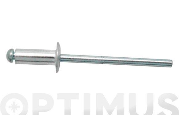 Remache cabeza alomada 3.2 x 10 aluminio 25 uds clavo de acero