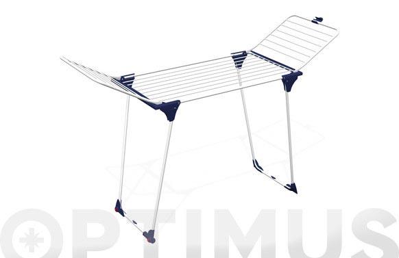 Tendedero con alas aluminio / acero genio-20m