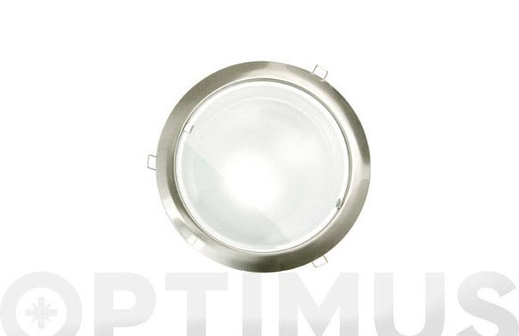 Downlight redondo e-27 2x20w niquel mat-200 mm