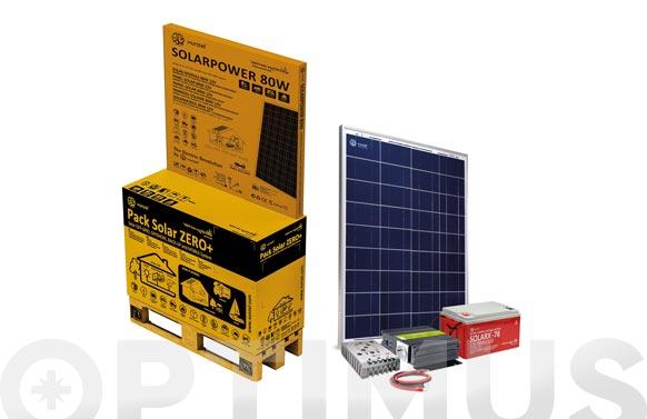 Pack solar zero 70ah + 4001 con bateria solarx