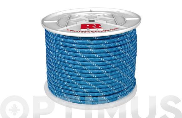 Cuerda poliester trenzada azul 10mm-100 mt