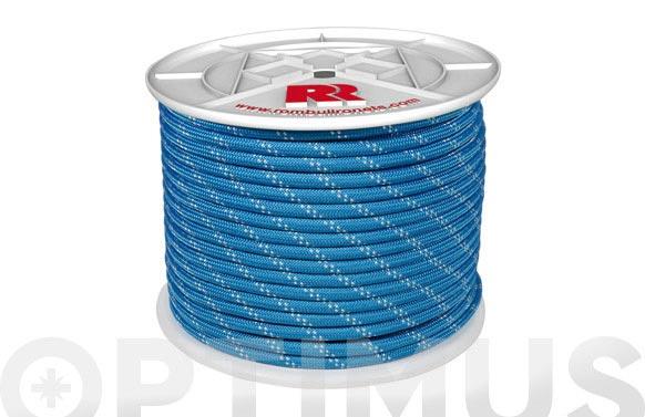 Cuerda poliester trenzada azul 8mm-200 mt
