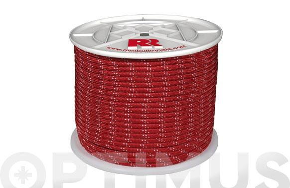 Cuerda poliester trenzado con alma ø 8 mm 200 mt roja