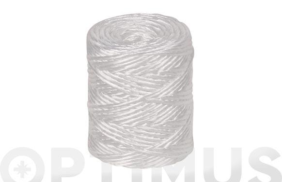 Hilo rafia polipropileno 1 cabo 600 m/kg ø 1,7 mm 200 grs blanco