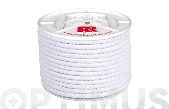 Cuerda algodon trenzado con alma ø 8 mm 15 mt blanco