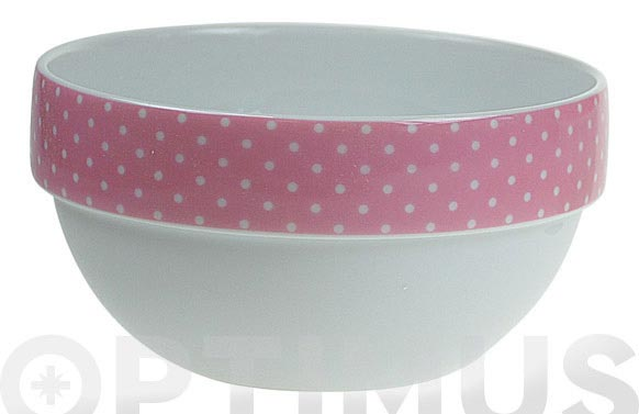 Bol apilable porcelana ambit mini topos rosa
