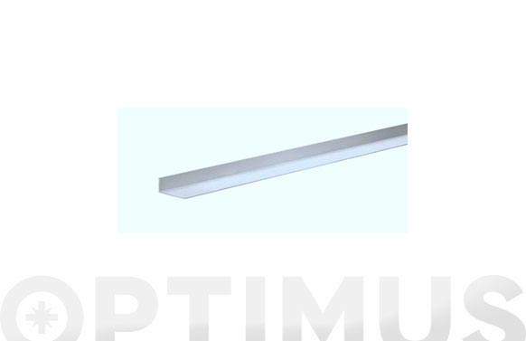 Perfil angulo aluminio natural 2,6 m 20 x 20 x 1 mm