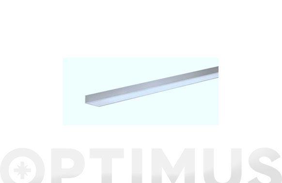 Perfil angulo aluminio natural 2,6 m 25x25x1