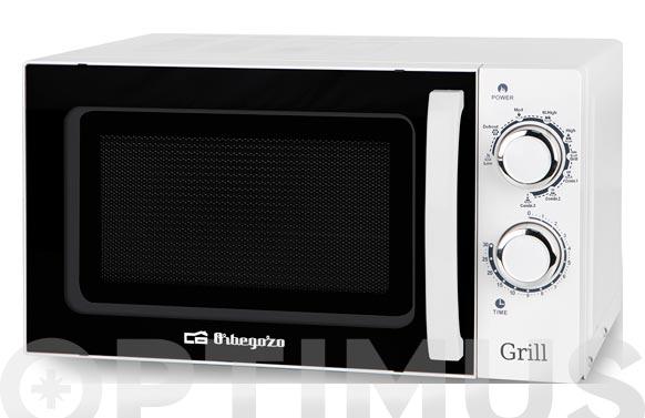 Horno microondas con grill mig-2030 20l blanco