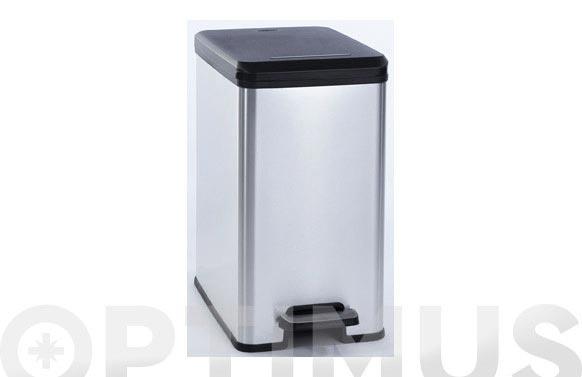 Cubo pedal slim bin curver metal plata 25 l