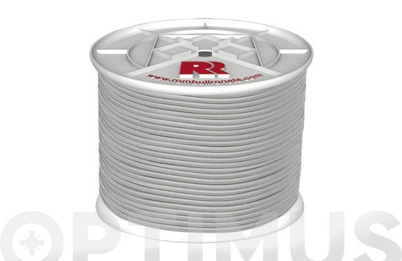 Cuerda elastica poliester/latex ø 8 mm 100 mt blanco