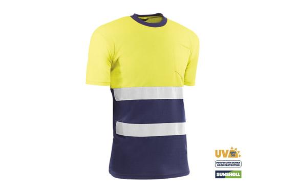 Camiseta manga corta alta visibilidad t m azul