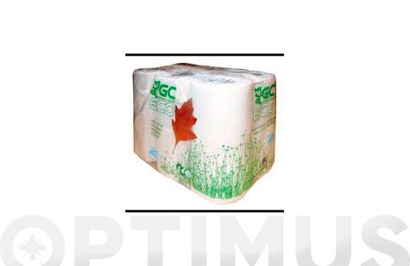 Papel higienico domestico reciclado 2 capas 20mt
