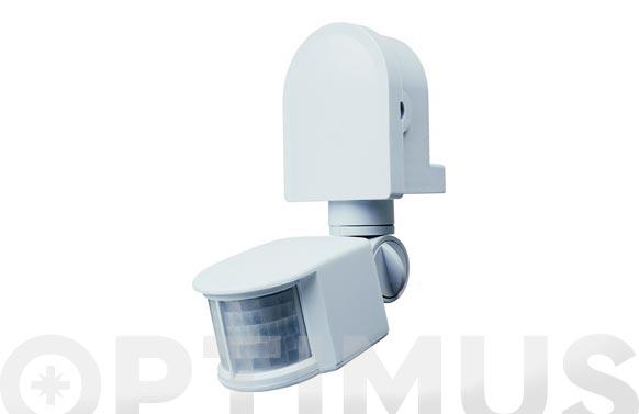 Interruptor con detector de movimiento blanco