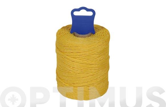 Hilo replanteo polipropileno trenzado ø 1,8 mm 100 mt amarillo
